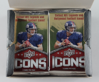 2008 Upper Deck Icons Football Card Box with (24) Packs Each (See Description) at PristineAuction.com