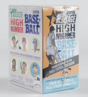 2018 Topps Heritage High Number Baseball Blaster Box of (8) Packs at PristineAuction.com