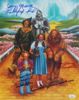 """Mickey Carroll, Jerry Maren, & Karl Slover Signed """"The Wizard of Oz"""" 11x14 Photo with Multiple Inscriptions (JSA COA) at PristineAuction.com"""