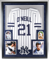 Paul O'Neill Signed Yankees 35x43 Custom Framed Jersey Display (JSA COA) at PristineAuction.com