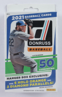 2021 Panini Donruss Baseball Hanger Box with (50) Cards (See Description) at PristineAuction.com