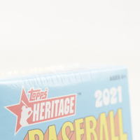 2021 Topps Heritage Baseball Blaster Box with (8) Packs (See Description) at PristineAuction.com
