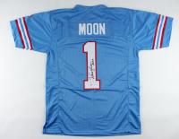 "Warren Moon Signed Jersey Inscribed ""HOF 06"" (Beckett COA) (See Description) at PristineAuction.com"