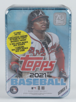 2021 Topps Series 1 Baseball Collectible Tin with (75) Cards (See Description) at PristineAuction.com