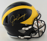 Jim Harbaugh Signed Michigan Wolverines Full-Size Speed Helmet (Beckett Hologram) at PristineAuction.com