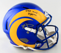 "Aaron Donald Signed Rams Full-Size Speed Helmet Inscribed ""QBs Worst Nightmare"" (JSA COA) at PristineAuction.com"