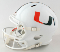"""Gregory Rousseau Signed Miami Hurricanes Full-Size Speed Helmet Inscribed """"I AM GROOT"""" (JSA COA) at PristineAuction.com"""