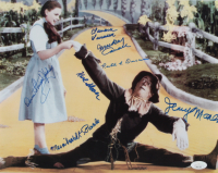 """""""The Wizard of Oz"""" 11x14 Photo Cast-Signed by (5) with Karl Slover, Mickey Carroll, Jerry Maren, Donna Stewart-Hardaway with (3) Character Inscriptions (JSA COA) at PristineAuction.com"""
