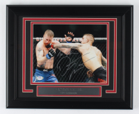 Dustin Poirier Signed UFC 13.5x16.5 Custom Framed Photo Display (PSA COA) at PristineAuction.com