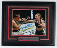 "Valentina ""Bullet"" Shevchenko Signed 18.5x22.5 Custom Framed Photo Display (PSA Hologram) (See Description) at PristineAuction.com"