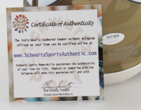 Cris Carter Signed Vikings Camo Alternate Speed Mini Helmet (Schwartz COA) at PristineAuction.com