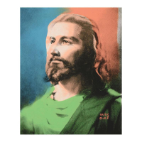 """Ringo Signed """"Jesus"""" 12x16 One-of-a-Kind Mixed Media on Canvas at PristineAuction.com"""