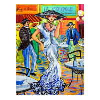 "Patricia Govezensky Signed ""Stylist"" 16x12 Original Acrylic on Canvas at PristineAuction.com"