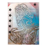 "Mark Kostabi Signed ""Starlight Dreams"" 30x22 Original Artwork at PristineAuction.com"