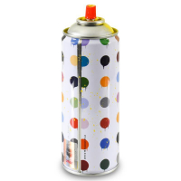 """Mr. Brainwash Signed """"Hirst Dots (Yellow)"""" Limited Edition Hand Painted Spray Can #125/200 with Thumbprint at PristineAuction.com"""
