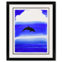 "Wyland Signed ""Aqua World War"" 35x42 Custom Framed Original Watercolor Painting at PristineAuction.com"