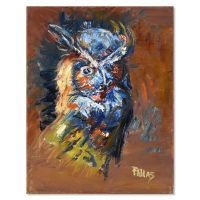 """Elliot Fallas Signed """"Who Dat"""" 11x14 Original Oil Painting on Canvas at PristineAuction.com"""