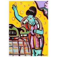 """Rina Maimon Signed """"Fur Fabulous """" 22x16 Original Acrylic Painting on Canvas at PristineAuction.com"""