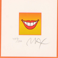 """Peter Max Signed """"Smile"""" Limited Edition 14x13 Custom Framed Lithograph #477/500 at PristineAuction.com"""