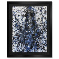 "Wyland Signed ""Splash 176"" 37x30 Custom Framed Original Watercolor Painting at PristineAuction.com"