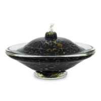 """GartnerBlade Glass Signed """"Small Saturn Oil Lamp"""" Hand Blown Glass Sculpture at PristineAuction.com"""