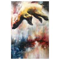 "John Milan Signed ""Drifter"" 36x24 Original Painting at PristineAuction.com"