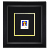 """Peter Max Signed """"Liberty Head I"""" Limited Edition 17x16 Custom Framed Lithograph #445/500 at PristineAuction.com"""