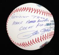 "Pete Rose Signed OML Baseball Inscribed ""President Trump Make America Great Again"" (Fiterman Hologram & JSA COA) at PristineAuction.com"
