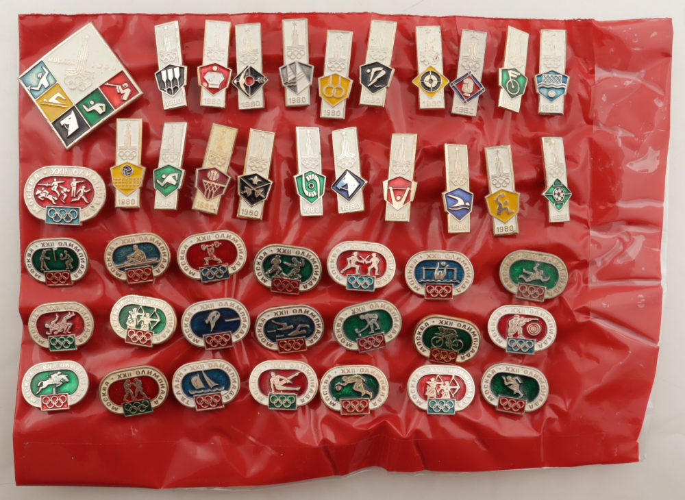 1980 Russian Olympic Vintage Set of (43) Pins at PristineAuction.com