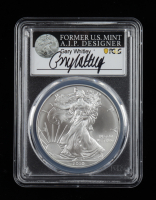 2010 American Silver Eagle $1 One Dollar Coin - Gary Whitley Signed Label (PCGS MS70) at PristineAuction.com