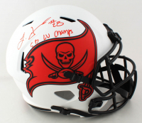 "Leonard Fournette Signed Buccaneers Full-Size Lunar Eclipse Alternate Speed Helmet Inscribed ""SB LV Champs"" (Fanatics Hologram) (See Description) at PristineAuction.com"