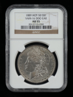 1889 Morgan Silver Dollar, VAM-16 DDO Ear Hot 50 (NGC AU55) at PristineAuction.com