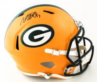 Davante Adams Signed Packers Full-Size Speed Helmet (JSA COA) (See Description) at PristineAuction.com