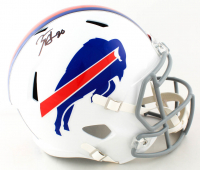 Zack Moss Signed Bills Full-Size Speed Helmet (Beckett COA) (See Description) at PristineAuction.com
