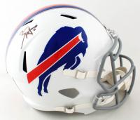 Zack Moss Signed Bills Full-Size Speed Helmet (Beckett COA) at PristineAuction.com