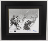 Bobby Orr Signed Bruins 18x21 Custom Framed LE Lithograph #/300 (Orr COA) at PristineAuction.com