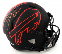 Josh Allen Signed Bills Full-Size Eclipse Alternate Speed Helmet (Beckett COA) (See Description) at PristineAuction.com