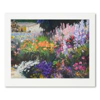 "Henri Plisson Signed ""Mediterranean Garden"" Limited Edition 37x30 Serigraph at PristineAuction.com"