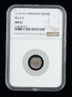 "Bela II ""the Blind King"" (1131-1141) Silver Denar - Coin of the Medieval Crusades (NGC MS61) at PristineAuction.com"