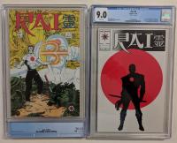 Set of (2) Rai Valiant Comic books with 1991 Magnus Robot Fighter #5 (CGC 9.0) & 1992 Rai #0 (CGC 9.0) at PristineAuction.com