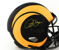 Isaac Bruce Signed Rams Full-Size Eclipse Alternate Speed Helmet (Beckett COA) (See Description) at PristineAuction.com