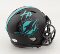 Xavien Howard Signed Dolphins Eclipse Alternate Speed Mini Helmet (JSA COA) at PristineAuction.com