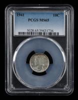 1941 Mercury Silver Dime (PCGS MS65) at PristineAuction.com