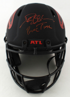 Deion Sanders Signed Falcons Full-Size Authentic On-Field Eclipse Alternate Speed Helmet (Beckett COA) (See Description) at PristineAuction.com