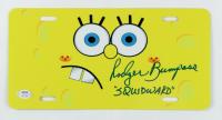 "Rodger Bumpass Signed ""SpongeBob SquarePants"" 6x12 License Plate Inscribed ""Squidward"" (PSA COA) at PristineAuction.com"