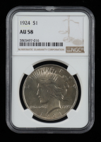 1924 Peace Silver Dollar (NGC AU58) at PristineAuction.com