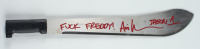 "Ari Lehman Signed Machete Inscribed ""Jason 1"" & ""F**** Freddy!"" (Beckett COA) (See Description) at PristineAuction.com"