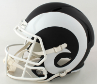 Eric Dickerson Signed Rams Full-Size Helmet with Multiple Inscriptions (Beckett COA) (See Description) at PristineAuction.com