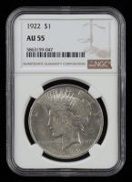 1922 Peace Silver Dollar (NGC AU55) at PristineAuction.com