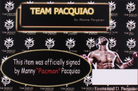 """Manny Pacquiao Signed """"Flag of the Philippines"""" Boxing Glove (Pacquiao COA) at PristineAuction.com"""